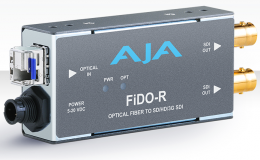 AJA Single-channel Optical Fiber to SD/HD/3G SDI