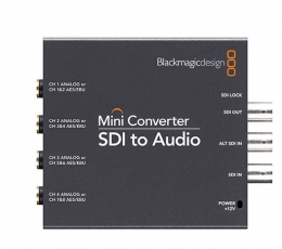 Black Magic Design Mini Converter - SDI to Audio (PS Incl.)