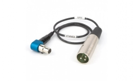 Audio cable for SR-type receiver, rotatable right angle TA5 to 3-pin male XLR.