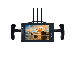 SmallHD 7-inch Wireless Monitor with Directors Handles and Gold Mount Battery Plate