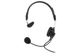 Telex PH-88 Light Weight Single Sided Headset with Flexible Dynamic Boom Mic, with A4F connector