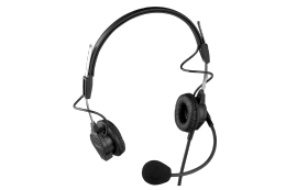 Telex PH 44 Light Weight Dual Sided Headset with Flexible Dynamic Boom Mic, A4F Connector
