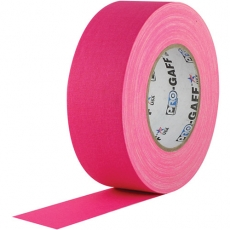 "Visual Departures Gaffer Tape, 2"" x 55 Yards, Fluorescent Pink"