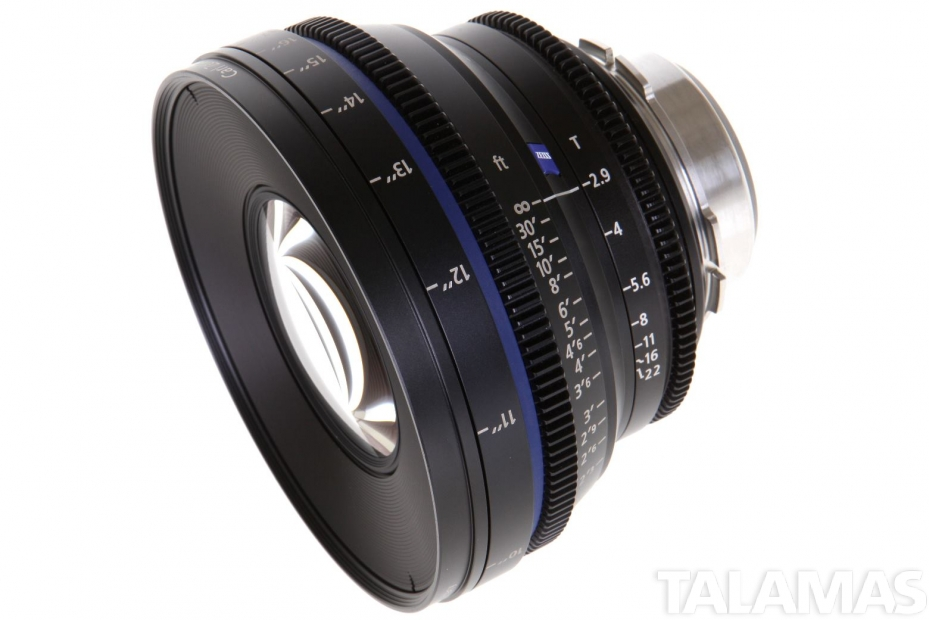 Zeiss 21mm T2.9 CP.2 Compact Prime Lens with PL Mount side view